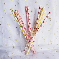 Best Customized Printing Colored Paper Straws , Patterned Drinking Straws For Party wholesale