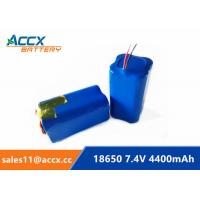 Best 7.4V 4400mAh 18650 battery pack  2S2P 5000mAh 5200mAh li-ion battery manufacturer wholesale