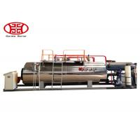 1 T/H Industrial Fire Tube Natural Gas Boiler , Diesel Oil Dual Fuel Fired Steam Boiler
