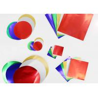 Buy cheap Gummed Colored Paper Circles Gloss Finish Combined With Squares And Circles from wholesalers