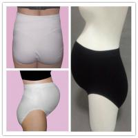 Cheap Stretchable Seamless Maternity Briefs , Black / White Maternity Pants for sale