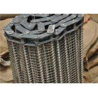 Best Stainless Steel Wire Mesh Conveyor Belt With Chain Smooth Surface wholesale