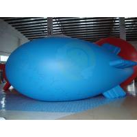 Best Durable Advertising Helium Zeppelin , Blue Waterproof Inflatable Blimps wholesale