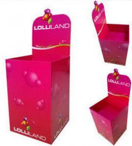 Best Pink Exhibition Corrugated Cardboard Dump Bins , Promotion Bins wholesale
