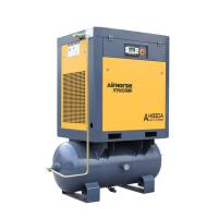 China Tank and air dryer mounted rotary screw air compressor on sale