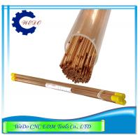 EDM Electrode Pipe / Copper Tubes 0.9x400mmL Double Holes For EDM Drill Machine