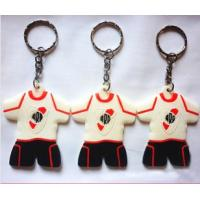 Best Football Club T-Shirt Silicone Rubber Keychains and Soft PVC Key Chain wholesale