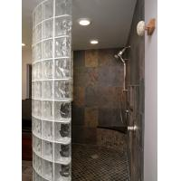 Cheap Classic Transparent Glass Shower Partition , Glass Blocks For Hotel / Club for sale
