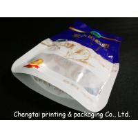 Best Eco - Friendly BOPP Compound Shaped Pouches With Transparent Window Gravure Printing wholesale