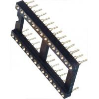 Best IC Socket 2*14P DIP Round Pin Header 2.54mm Row of Pitch 10.16 for PCB board wholesale