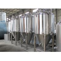 Best Dish Top Stainless Steel Conical Fermentation Tanks 2 - 5mm Thickness wholesale