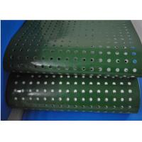 Best Green PVC Plastic Conveyor Belt With Punching Holes For Lightweight Conveying wholesale