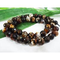 Cheap Brown Facted Round Semi Precious Leopard Skin Grain Bead, Beaded Handmade Jewellery for sale
