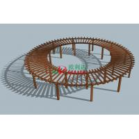 Cheap Prefabricated Composite Round Prefab Pergola Kits , Recyclable 100% Large for sale