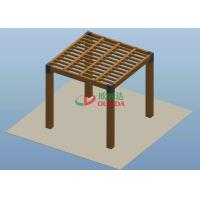 Cheap Square Wood Plastic Composite Pergola High Grade UV Resistance 2.7m * 2.7m * 2.7m for sale