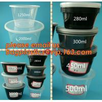 Japanese Packaging Round Disposable Soup Salad Food Container Plastic Microwave Safe PP Bowl/Box With Lid bagplastics pa