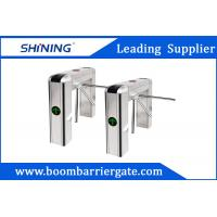 Best 100W LED Display Waist Height Tripod Turnstile Gate With Tubular Bumper wholesale