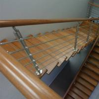 Best Wood Handrail Stainless Steel Rod Railing for Staircase Design wholesale