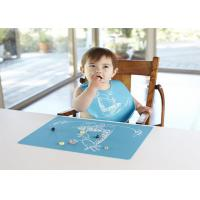 Best Custom Logo Printed Non-Slip Food Grade Silicone Placemats For Children wholesale