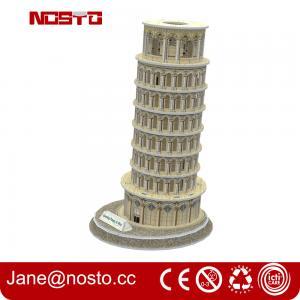 Best 3d puzzle famous buildings , 3D puzzle souvenir leaning tower of pisa wholesale