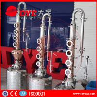 Best reflux vodka distiller 6plates copper column distill equipment home alcohol distillers wholesale