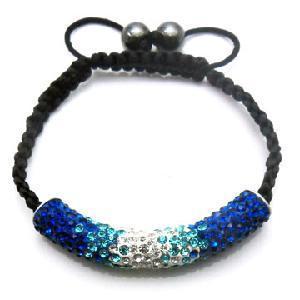 Best New Designed Crystal Tube Shamballa Bracelet (BSL3164H-55mm) wholesale