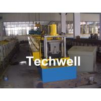 Best PLC Frequency Control Steel Hat Channel Cold Roll Forming Machine With 0-15m/min Forming Speed wholesale