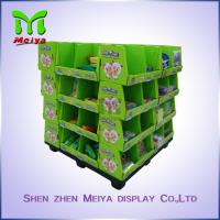 Cheap OEM Ponit Of Purchase Cardboard Pallet Display For School Stationery , 4 Sides Printed for sale