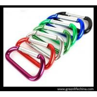 Best Professional 6cm aluminum carabiner standard D shape not for climbing colorful carabiners wholesale