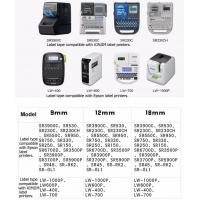 SS9KW(black on white, 9mm*8m), Tepra and Labelworks printers(LW300 LW400 LW600P LW700 LW900P)