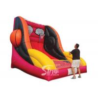 Best Custom made giant inflatable basketball throwing with hoop for indoor games wholesale