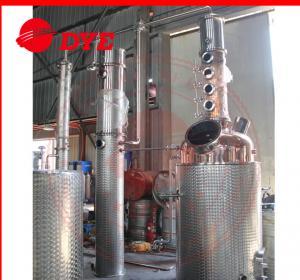 Best 100gal Gin spirit alcohol distiller with red copper distillation column plates wholesale