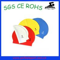 Cheap water sports triathlon rubber silicone zips latex swim caps for sale