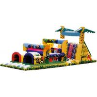 Best PVC Tarpaulin Inflatable Colorful Castle Bouncer / Obstacle Custom For kid wholesale