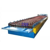 Best Steel Roof Panel Roll Forming Machine , Metal Roof Panel Machine Solid Shaft wholesale