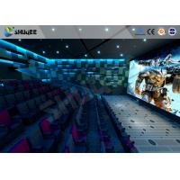 Best 100 Seats 4D Cinema Theater With Motion Seat / Metal Flat Screen / Special Effect Machine wholesale