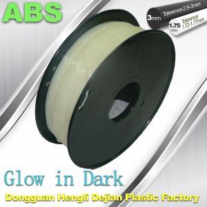 Cheap Markerbot , RepRap Glow in The Dark 3d Printer Filament , 3D Printing Filament for sale