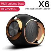 Best X6 Bluetooth 5.0 Speaker Wireless TWS Dual Sound Loudspeaker Subwoofer Support FM Radio For Handsfree Calling wholesale