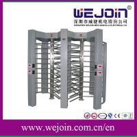 China LED Display Pedestrian Security Gates Controlled Full Height Turnstile on sale