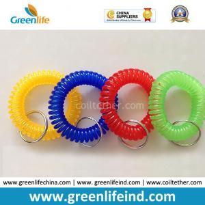 Best Hot Sales Big Quantity Transparent Round Wrist Key Coil Holders wholesale