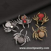 Best Popular Nickel&Lead Free Spider Design Crystal Animal Sex Women's Ring wholesale