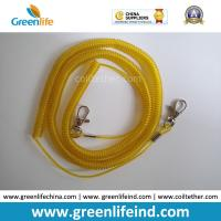 Best Wholesale Greenlife Factory Robster Clip Stretch Transparent Yellow 5M Tool Coil Lanyard for Fishing anti-drop wholesale