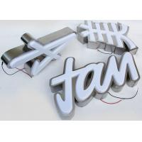Best Plastic 5730 Led Channel Letters 3mm Acrylic Panel With Vacuum Formed 3D Face wholesale
