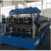 Best Double Layer Sheet Metal Forming Equipment , Metal Roofing Roll Forming Machine Manual Decoiler wholesale