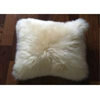 Cheap Australia Sheepskin Sofa Throw Pillows Single Sided Fur With Custom Color / Size for sale