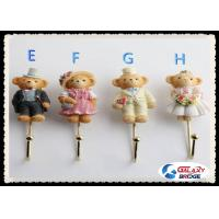 Plastic Coat Hooks Wall Mounted Kids Bedroom Cloth Holder With Cute Animal / Funny Design