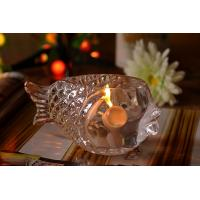 Best Fashional Creative Clear Glass Tealight Candle Holders Small Gold Fish wholesale