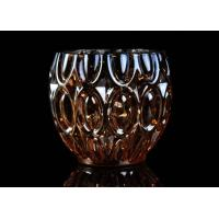 Best 315ml Dimpled Shape Glass Candle Jars with Color Sprayed Electroplated Effect wholesale