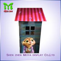 Cheap Custom Cartoon Design Kids Toy Cardboard Play House Corrugated Paper Furniture for sale