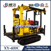 Buy cheap New Arrival! XY-400C Crawler Mounted Hydraulic Well Drilling Rig, 400m Water Well Drilling from wholesalers